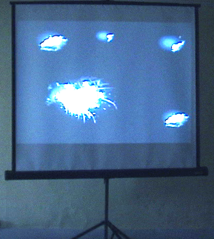 Opportunistics - Projection in Moving Image Tableau style